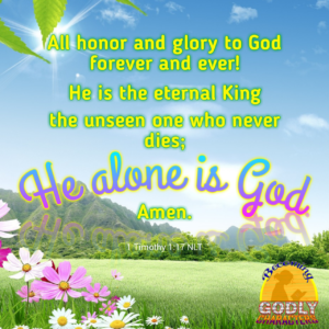 He alone is God